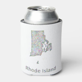 Rhode Island map Can Cooler