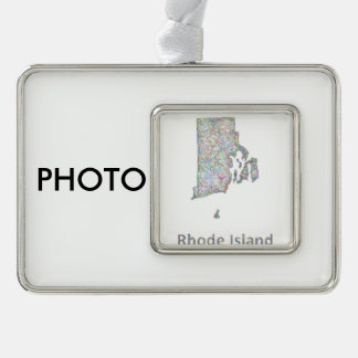 Rhode Island map Christmas Ornament