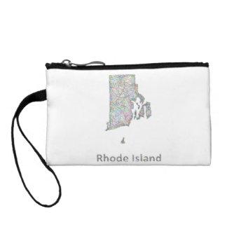 Rhode Island map Coin Wallet