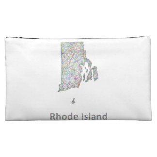 Rhode Island map Cosmetic Bag
