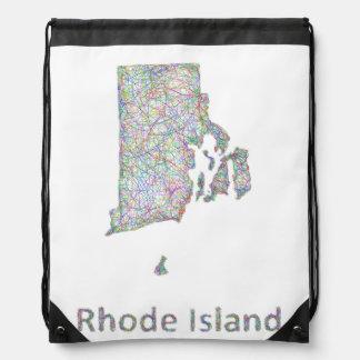 Rhode Island map Drawstring Bag
