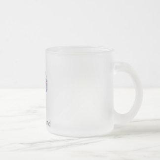 Rhode Island map Frosted Glass Coffee Mug