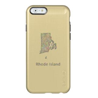 Rhode Island map Incipio Feather® Shine iPhone 6 Case