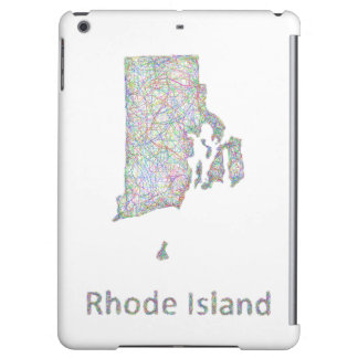 Rhode Island map iPad Air Cover