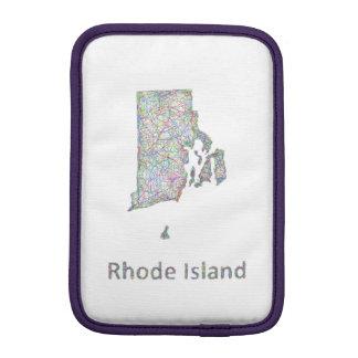 Rhode Island map iPad Mini Sleeves