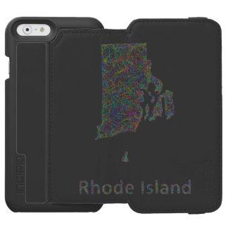 Rhode Island map iPhone 6/6s Wallet Case