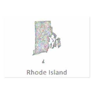 Rhode Island map Large Business Cards (Pack Of 100)