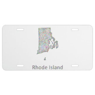 Rhode Island map License Plate