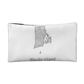 Rhode Island map Makeup Bag