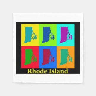 Rhode Island Map Napkin