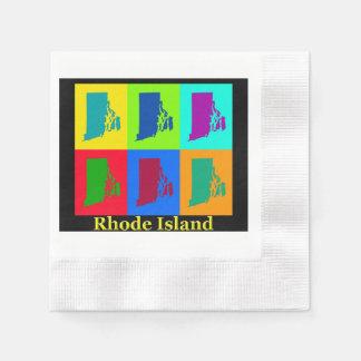 Rhode Island Map Paper Napkin