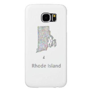 Rhode Island map Samsung Galaxy S6 Cases