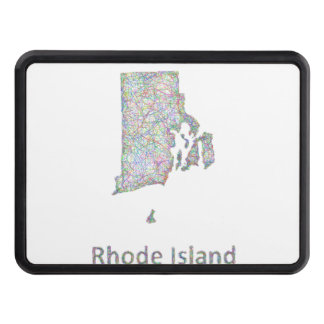 Rhode Island map Tow Hitch Covers