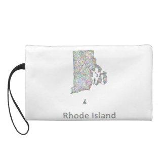 Rhode Island map Wristlet Purse