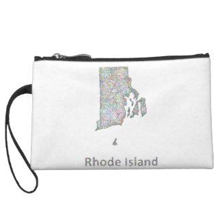 Rhode Island map Wristlet Wallet