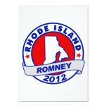 "Rhode Island Mitt Romney 5"" X 7"" Invitation Card"