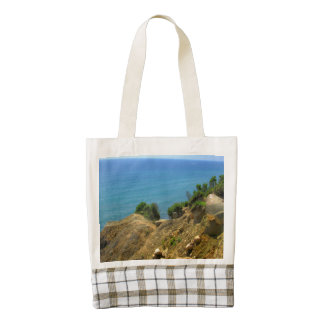 Rhode Island Mohegan Bluffs Zazzle HEART Tote Bag