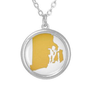 Rhode Island Round Pendant Necklace