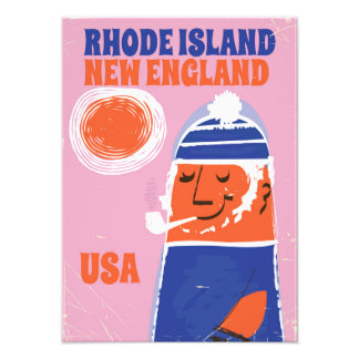 Rhode Island, New England fisherman vintage poster Photo Print