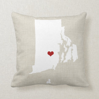 "Rhode Island New Home State Pillow 16"" x 16"""