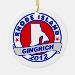 Rhode Island Newt Gingrich Christmas Ornaments