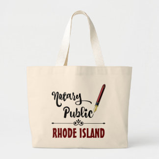 Rhode Island Notary Public Ink Pen Large Tote Bag