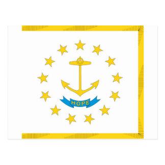 Rhode Island  Official State Flag Postcard