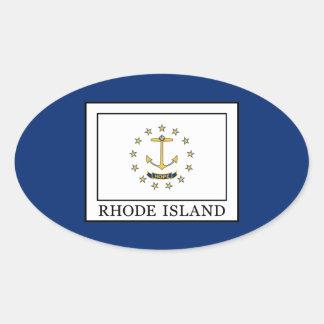 Rhode Island Oval Sticker