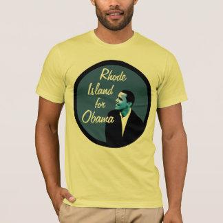 Rhode Island para la camiseta del azul de Obama