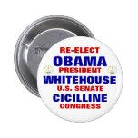 Rhode Island para Obama Whitehouse Cicilline Pins