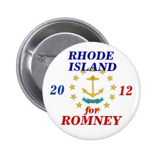 Rhode Island para Romney 2012 Pin Redondo De 2 Pulgadas