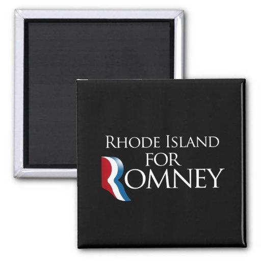 Rhode Island para Romney - .png Imán Cuadrado