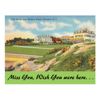 Rhode Island, paseo del acantilado, Newport Postal
