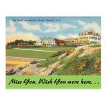 Rhode Island, paseo del acantilado, Newport Tarjetas Postales