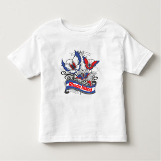 Rhode Island Patriotism Butterfly Toddler T-shirt