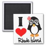 Rhode Island Penguin - I Love Rhode Island Refrigerator Magnet