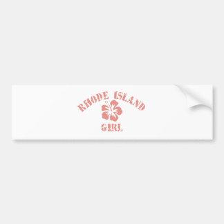 Rhode Island Pink Girl Bumper Sticker