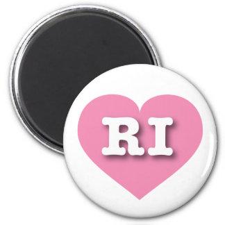 Rhode Island pink heart - Big Love Magnet