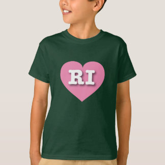 Rhode Island Pink Heart - Big Love T-Shirt