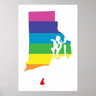 rhode island rainbow poster