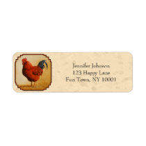 Rhode Island Red Chicken Beige Label