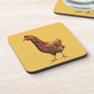 Rhode Island Red Chicken Hen Coaster