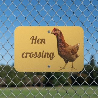 Rhode Island Red Hen Animal Metal Sign