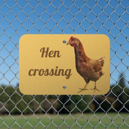 Rhode Island Red Hen Animal Metal Sign