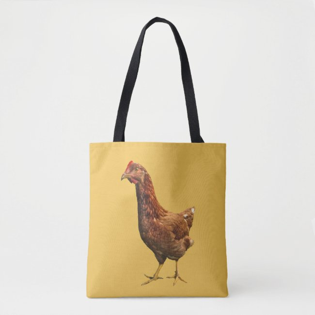 Rhode Island Red Hen Bird Animal Tote Bag