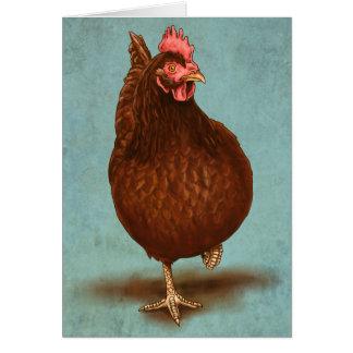Rhode Island Red Hen Card