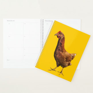 Rhode Island Red Hen Chicken Animal Yellow Planner