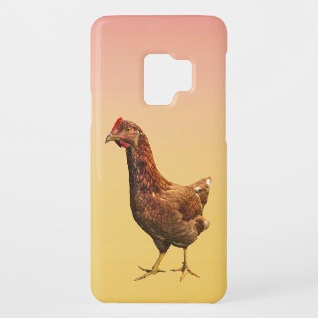 Rhode Island Red Hen Chicken Galaxy S9 Case