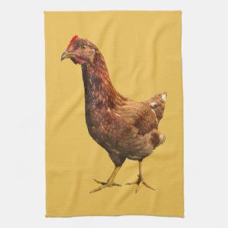 Rhode Island Red Hen Chicken Kitchen Towel