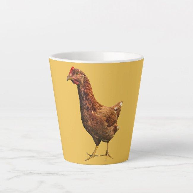 Rhode Island Red Hen Chicken Latte Mug